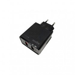 CARGADOR USB APPROX QUICK CHARGE 30 NEGRO