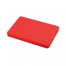 CAJA EXTERNA 25 USB 20 SATA APPROX ROJO
