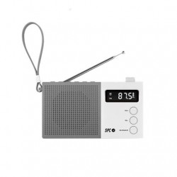 RADIO DESPERTADOR SPC JETTY MAX BLANCO PANTALLA LED RELOJ A